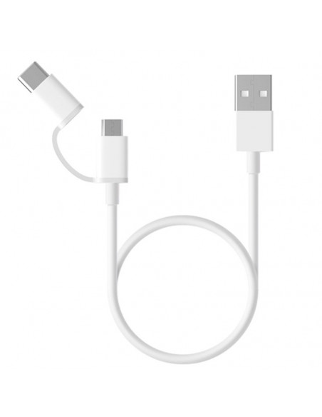 Mi 2 in 1 USB Cable Micro USB to Type C Cargadores